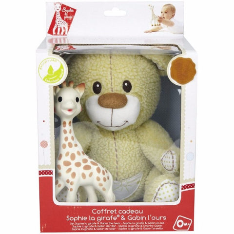 Sophie la girafe® - Set Gabin the teddy bear + Sophie la girafe (gift case)