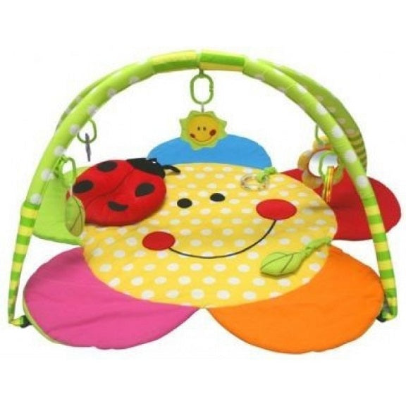 Luckybaby-Smiley Flower Mat With Ladybug Pillow Playgym