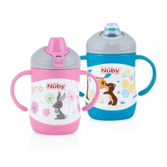 Nuby Stainless Steel Cups - 220ml Sprout