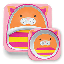 Skip Hop Zoo Plate and Bowl Set