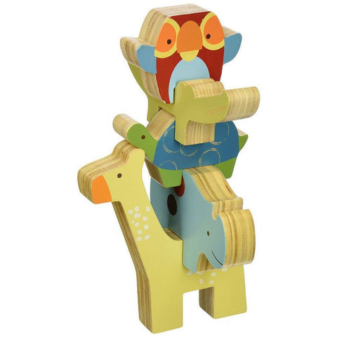 Skip Hop - Giraffe Safari Wood Toys Stacking Animal Blocks