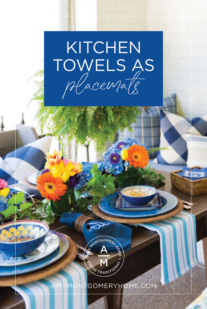 Kitchen Towels As Placemats