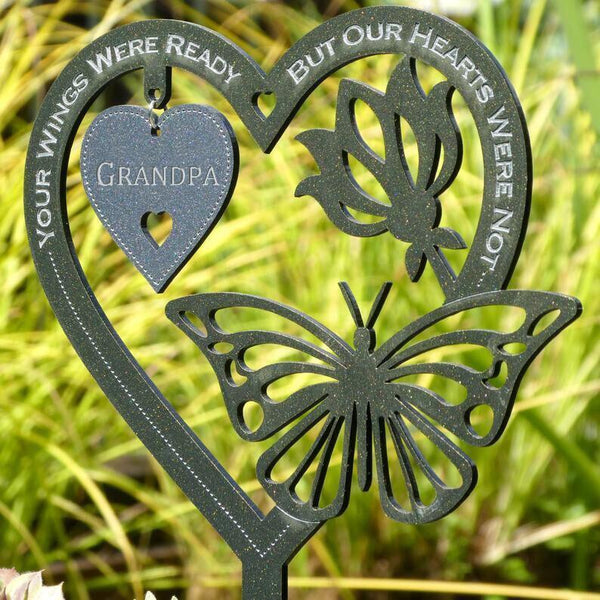 Memorial Gift Butterfly Ornament-Garden Memorial Plaque