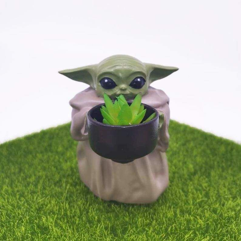 Mini YODA Planter-Perfect Gift For Comic Fans
