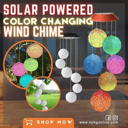 Solar Powered Colour Changing Crystal Ball Wind Chime