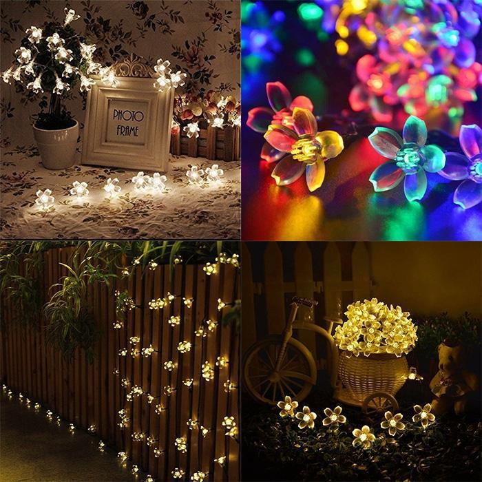 Solar-Powered LED String Lights