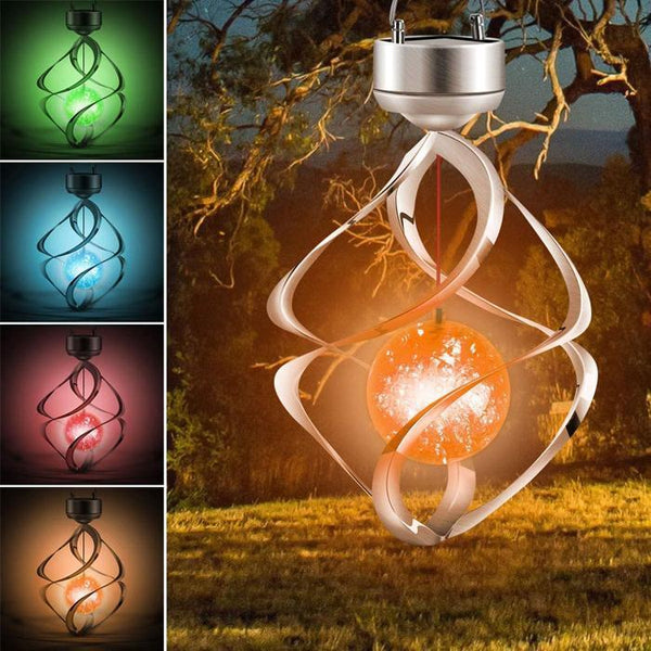 Solar Wind Chime Colour Changing Hanging Light