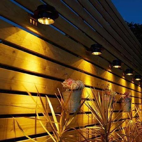 LED Solar Power Wall Fence Gutter Lights