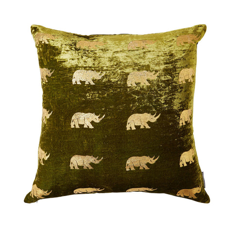 Large  ARUSHA Green Velvet Pillow