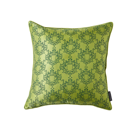 Large ALBEMARLE Green Silk Pillow