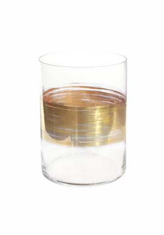 Brushstroke Equator Gold Small Tumbler