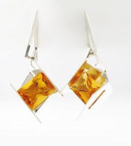 Firework Earrings  | Citrine | Sterling Silver