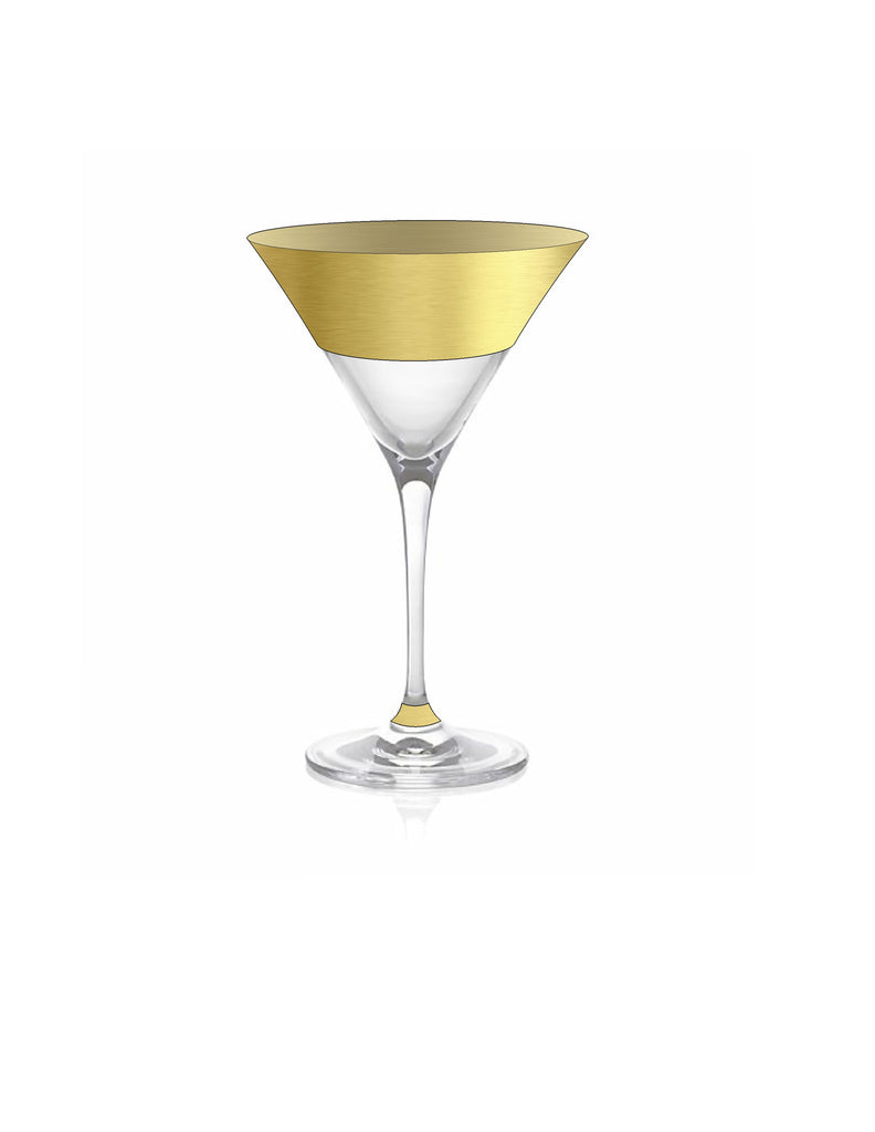 Northern Hemisphere Gold Martini Glass