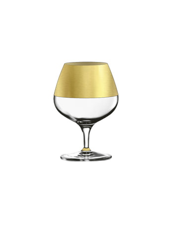 Northern Hemisphere Gold Brandy Snifter