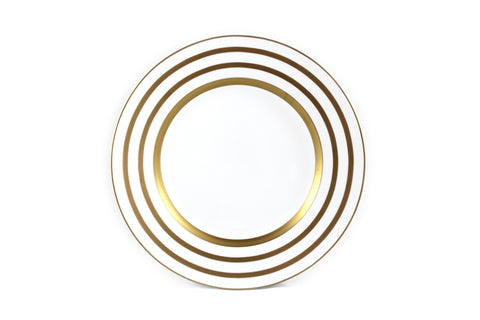 Rings White/Gold Dinner Plate