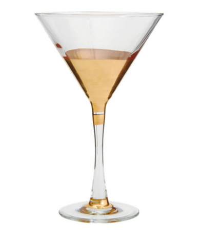 Southern Hemisphere Gold Martini Glass