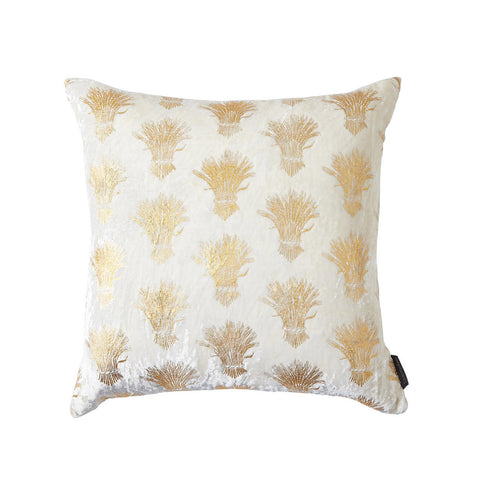Large WEALD White Velvet Pillow