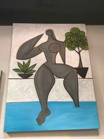 "Poolside by Paul Zepeda 40"" x 32"""