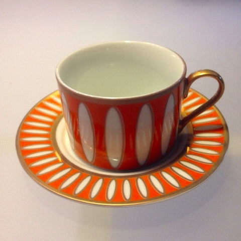 St. Mortiz Orange Cup & Saucer
