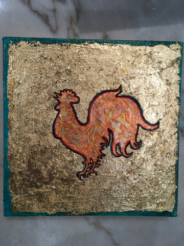 "Year of the Rooster by Paul Zepeda 8"" x 8"""