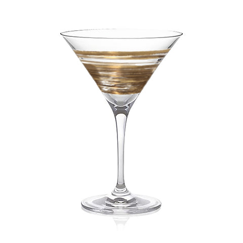 Brushstroke Equator Gold Martini