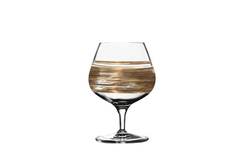 Brushstroke Equator Gold Brandy Snifter