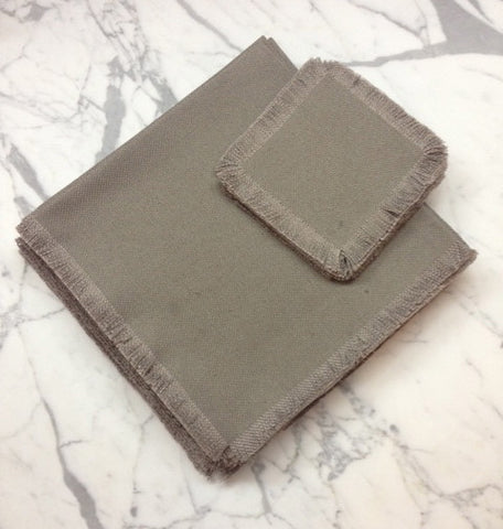 "22"" x 22"" Low shrinkage Linen Napkin -  Dark Grey"