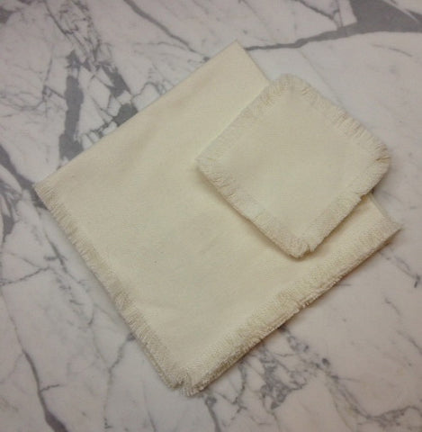 "22"" x 22"" Low shrinkage Square Linen Napkin -  Off White"