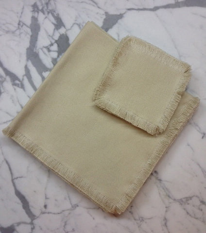 "22"" x 22"" Low shrinkage Linen Napkin - Beige"