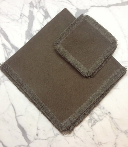 "22"" x 22"" Low shrinkage Linen Napkin - Brown"