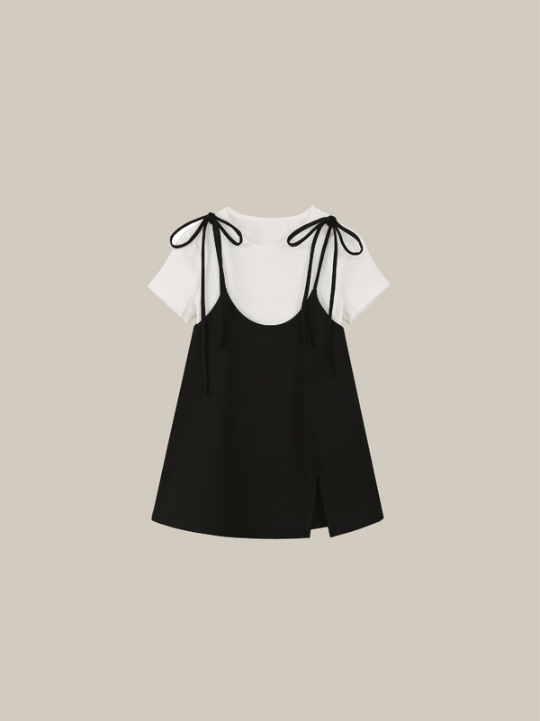 Black Ribbon Camisole T