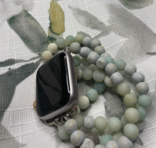 Load image into Gallery viewer, Aloha-Pine Beaded Apple Watch Band