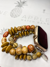 Load image into Gallery viewer, Kuʻuna-Pine Beaded Apple Watch Band