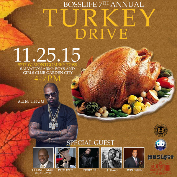 7th Annual BossLife Turkey Drive