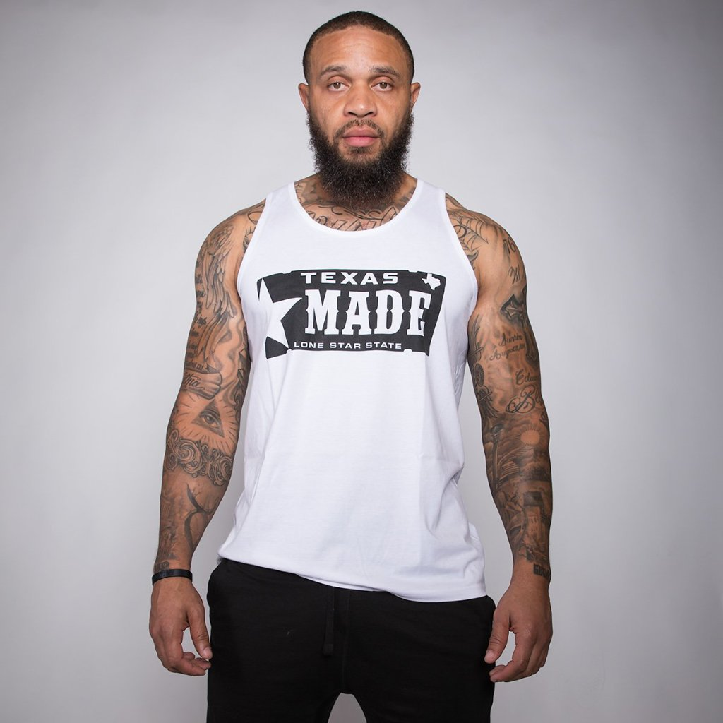 "HoggLife ""Texas Made"" Tank Top - White/Black"
