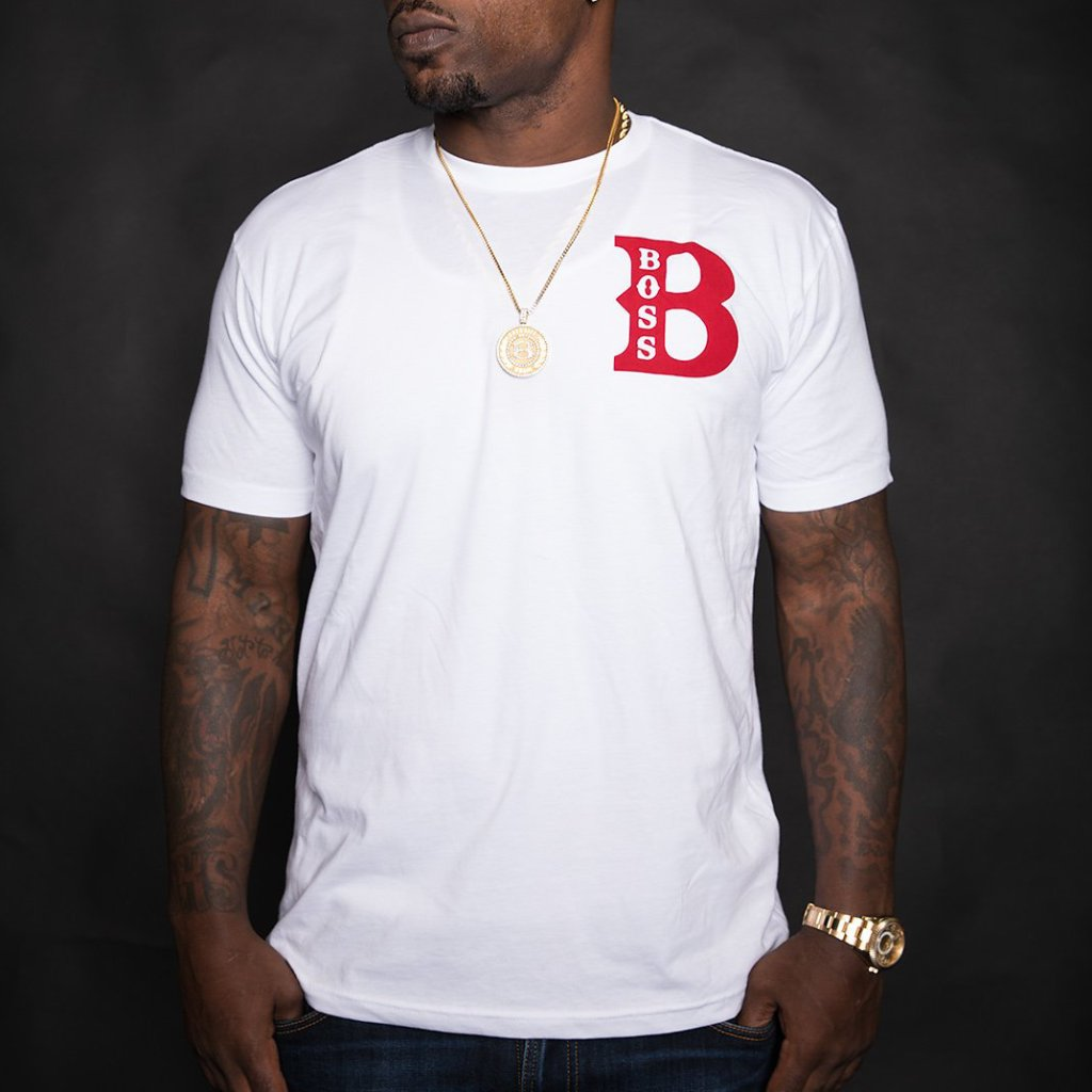 "BossLife ""Boss"" Tee - White/Red"