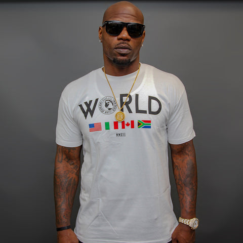 "BossLife ""World Wide"" Tee - White"