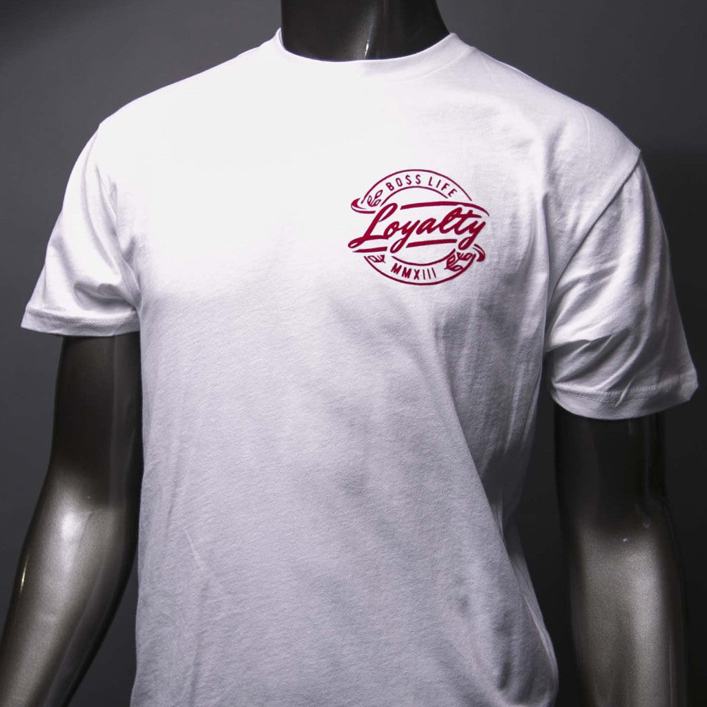 "BossLife ""Loyalty"" Tee - White/Red"