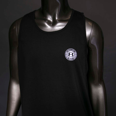 "BossLife ""Circle B"" Tank Top - Black/White"