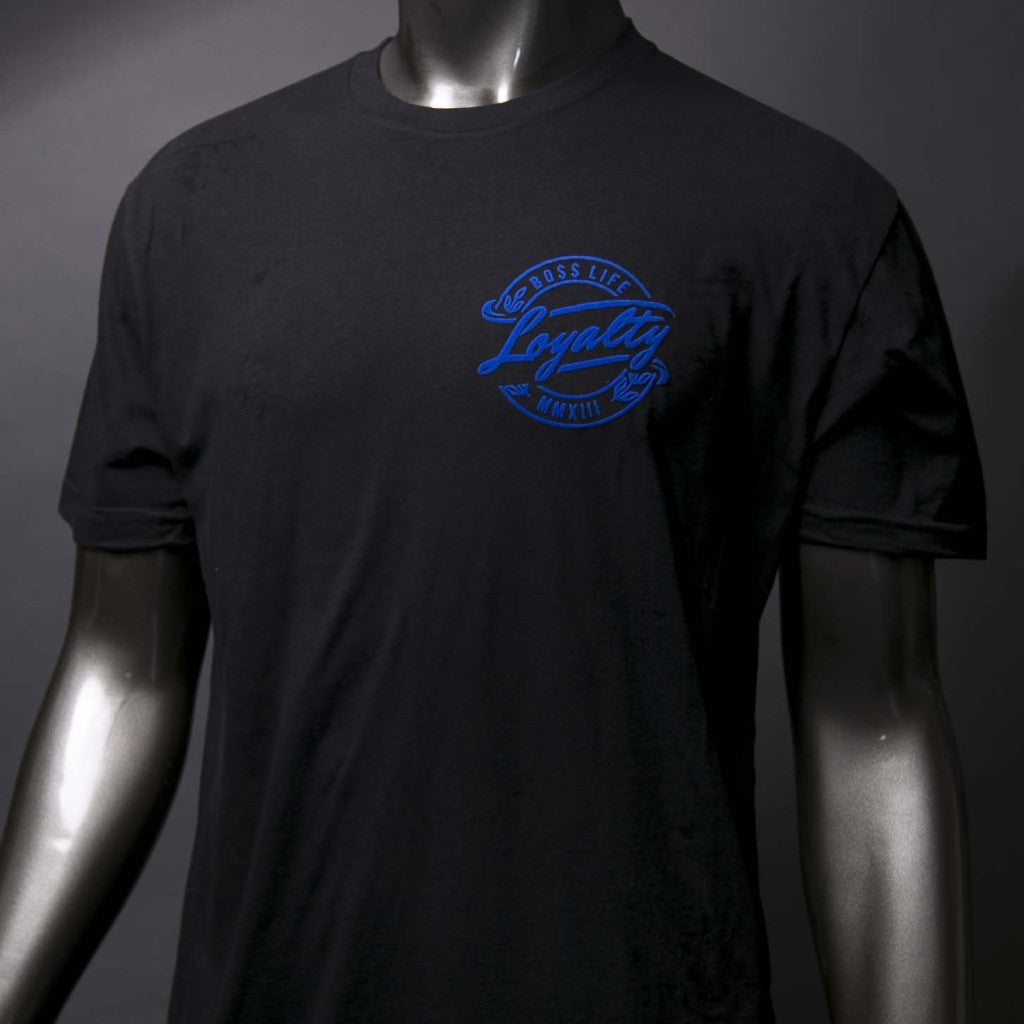 "BossLife ""Loyalty"" Tee - Black/Royal"