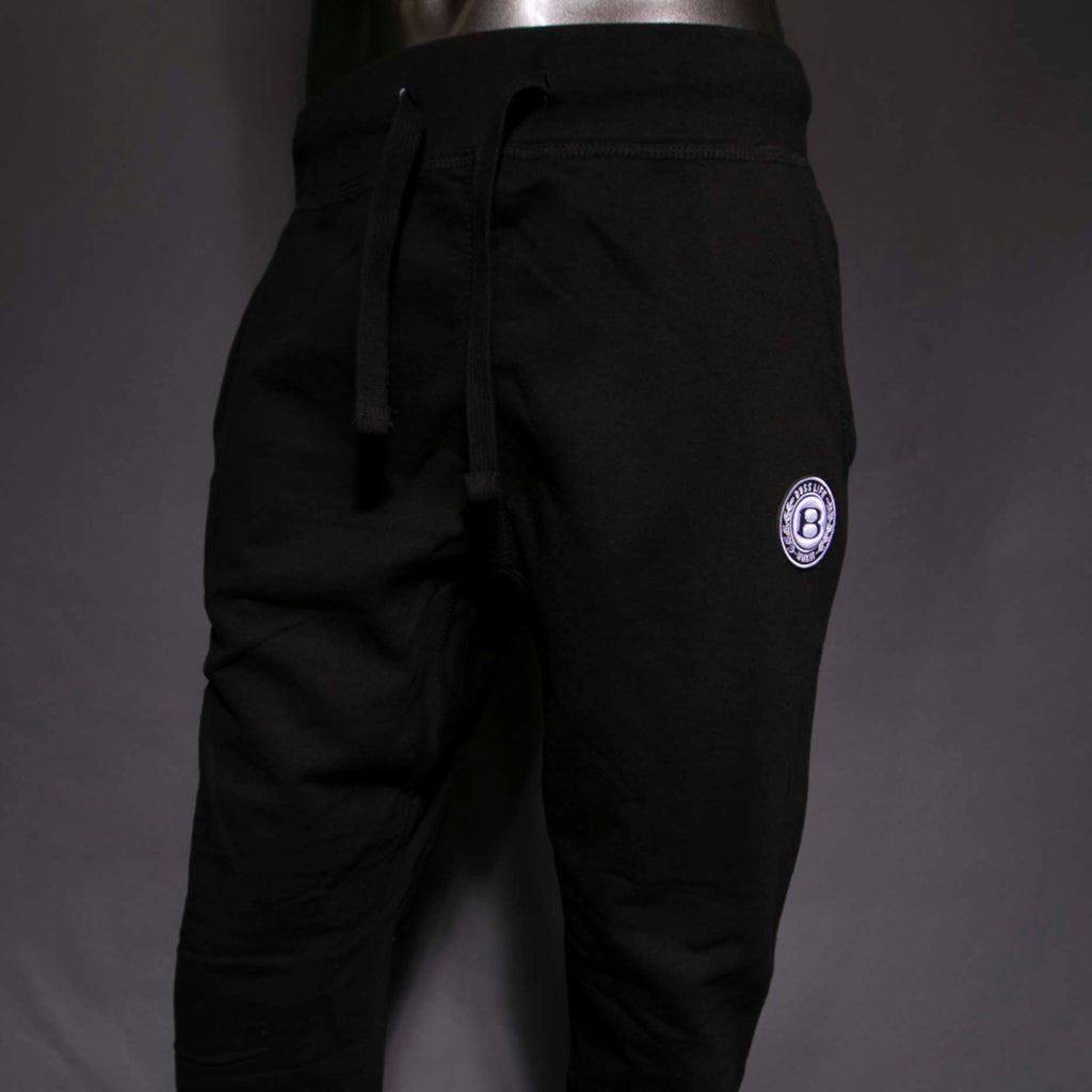 "BossLife ""Circle B"" Joggers - Black/White/Black"