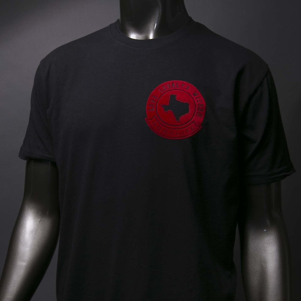 "HoggLife ""Loyalty/Wisdom"" Tee - Black/Red"