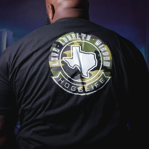"HoggLife ""TEXAS""  Tee - Black/Camo"