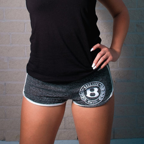 "BossLife ""Circle B"" Shorts - Grey/White"