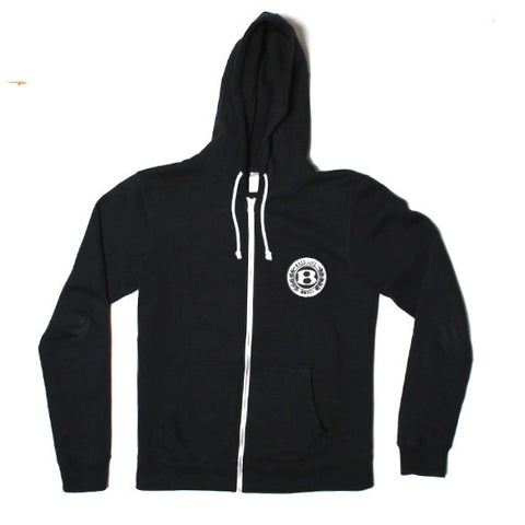"BossLife ""Circle B"" Zip up Hoodie - Black"