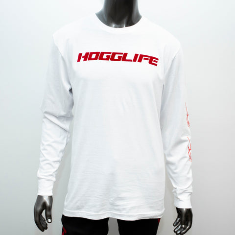 "HoggLife ""Motor"" Long Sleeve - White/Red"
