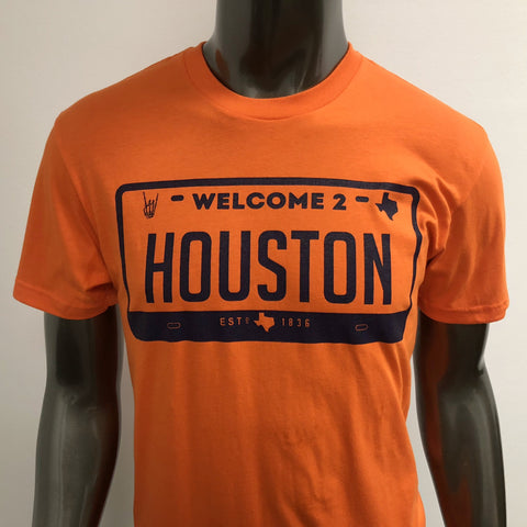"HoggLife ""Welcome 2 Houston"" Tee - Orange/Navy"