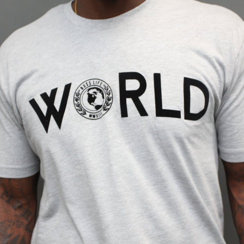 "BossLife ""World"" Tee - Grey/Black"