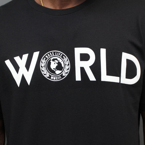 "BossLife ""World"" Tee - Black/White"