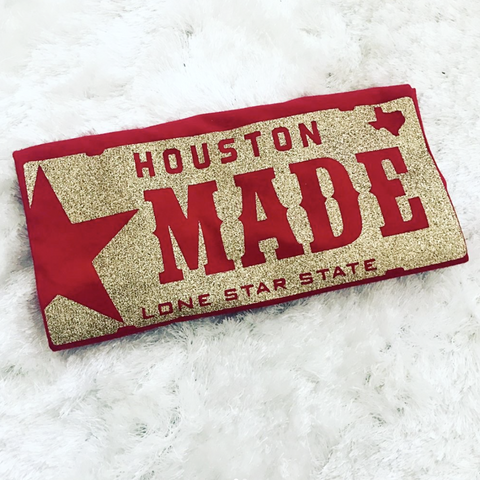 "HoggLife ""Houston Made"" Tee - Red/Gold PRE-ORDER"